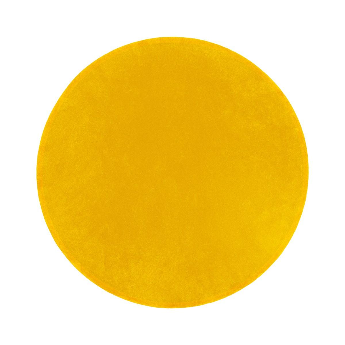 Tapis Luna rond jaune