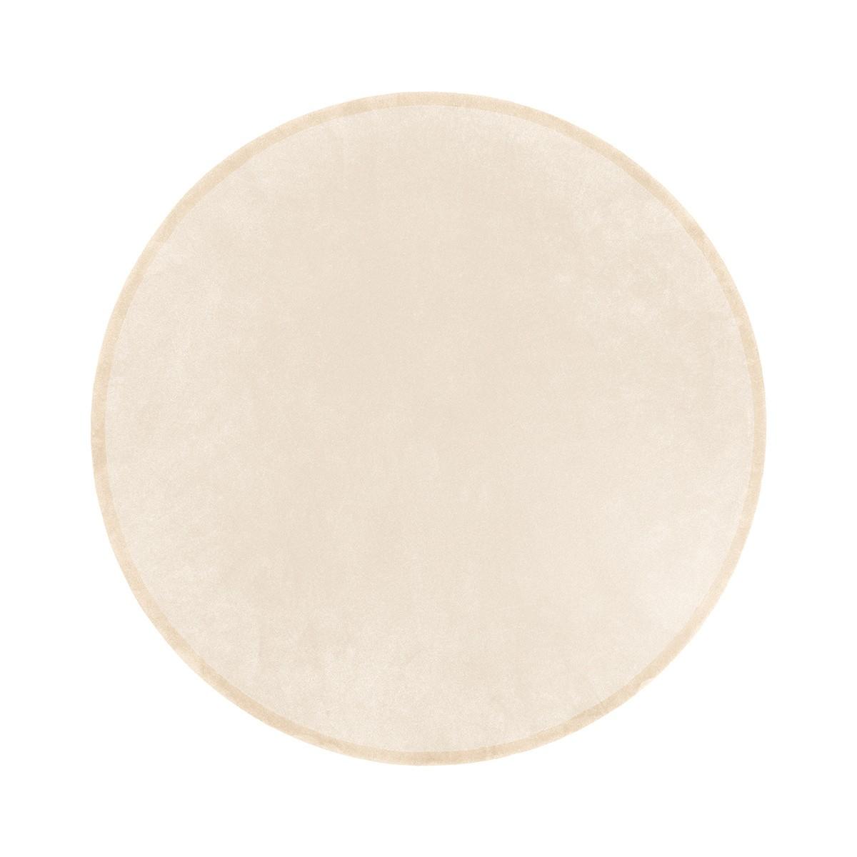 Tapis Luna rond blanc crème