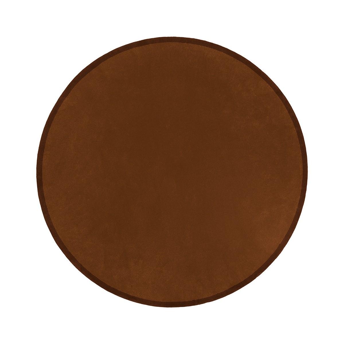 Tapis Luna rond chocolat
