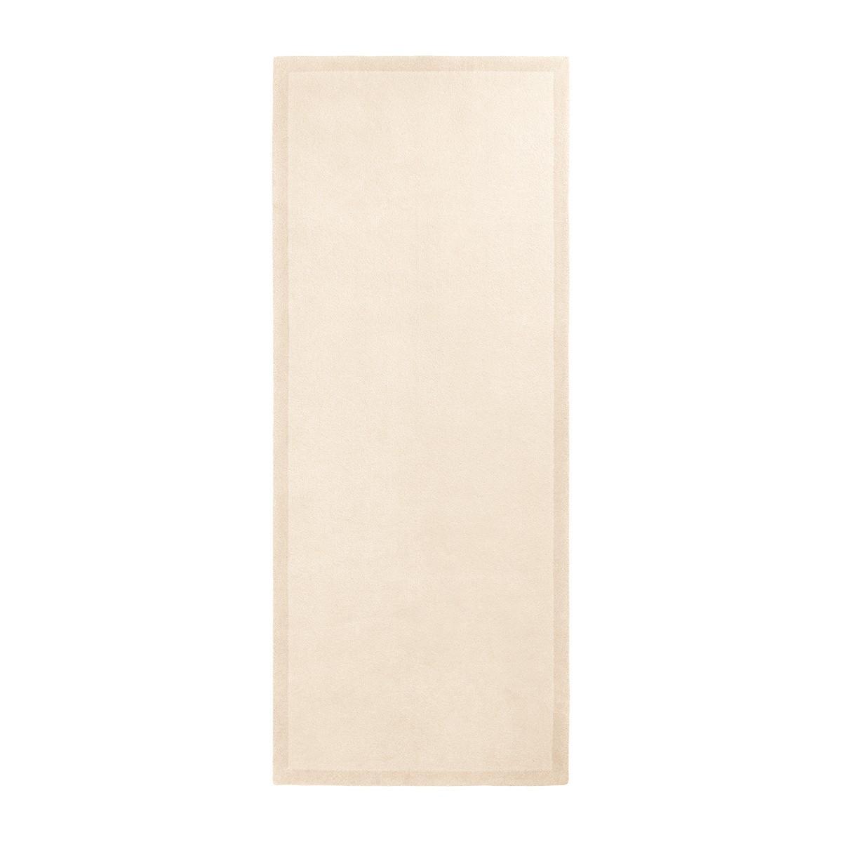 Tapis de couloir Luna blanc crème